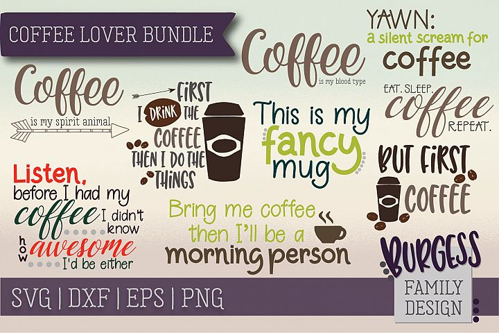 Coffee lover bundle | SVG DXF EPS PNG
