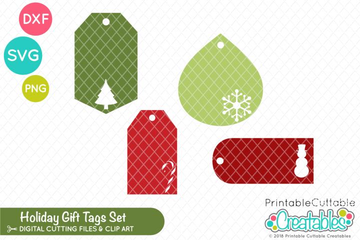 Christmas Gift Tags SVG Set