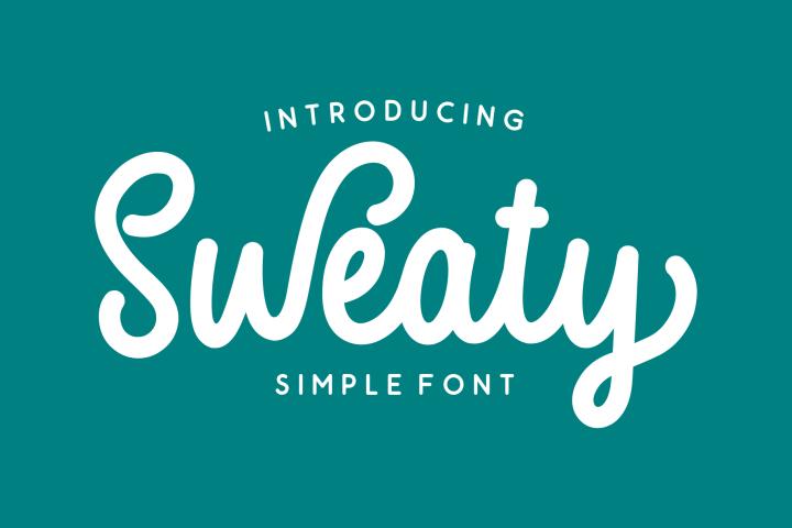 Sweaty | Bold Script Font