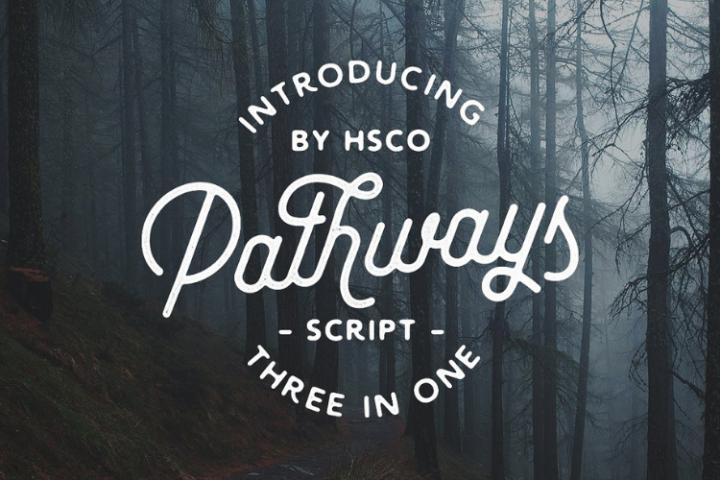 Pathways | 4 Styles Bonuses - Font