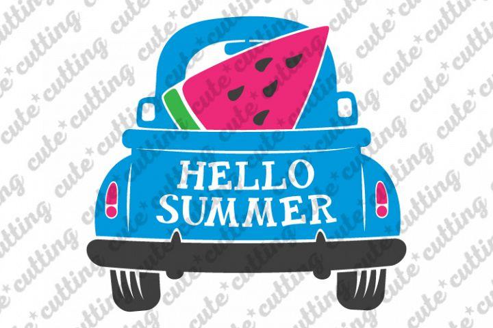 Summer truck svg, Watermelon truck svg, Summer svg, png, dxf
