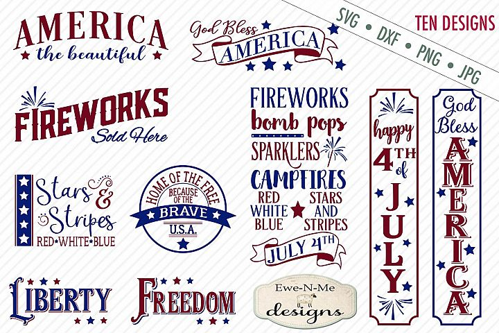 4th of July SVG Bundle - Patriotic - Independence Day SVG