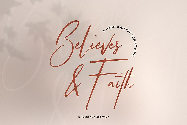 Believes And Faith Font