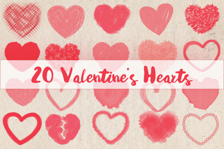 20 Valentines Hearts