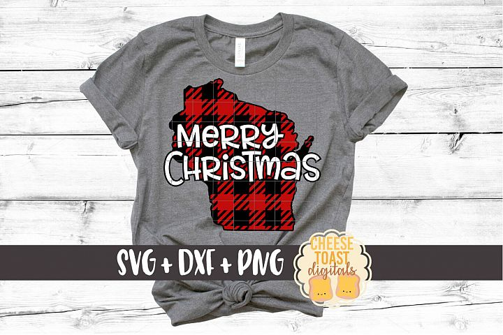 Wisconsin - Buffalo Plaid State - SVG PNG DXF Cut Files