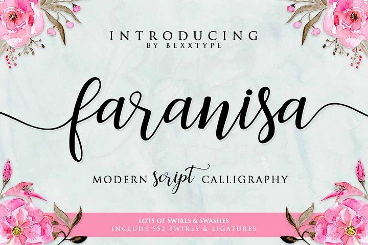 Faranisa Script - Free Font of The Week Font