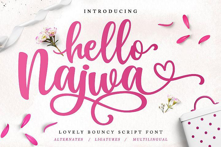 Hello Najwa - Lovely Script Font