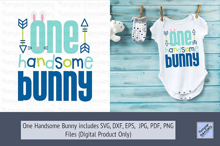 One Handsome Bunny - SVG, Clipart and Printable