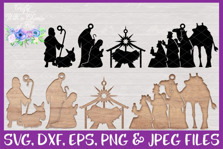 Nativity Ornament SVGs - Christmas Laser Cut Design