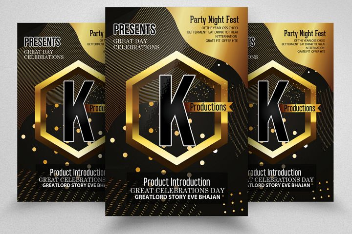 Product Introduction Party Flyer template