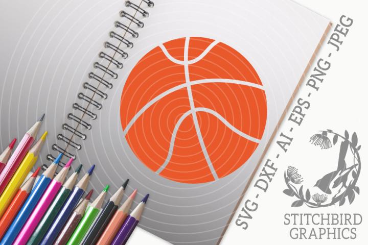 Basketball 1SVG, Silhouette Studio, Cricut, Eps, Dxf, AI