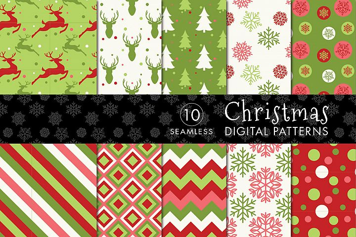 10 Seamless Christmas Patterns - Set 1