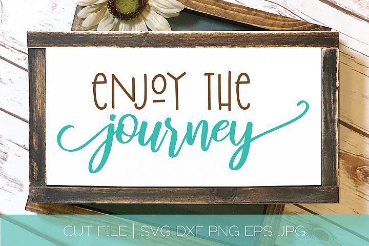 Enjoy The Journey Arrow SVG DXF Cut File
