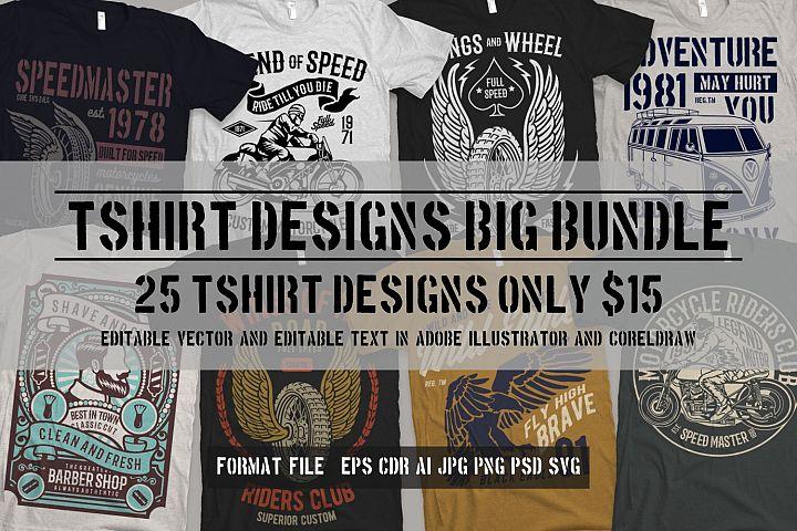 25 Premium Tshirt Designs Big Bundle 2