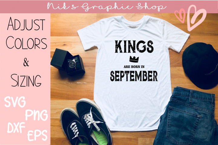 September Birthday Svg, September King, Birthday Svg