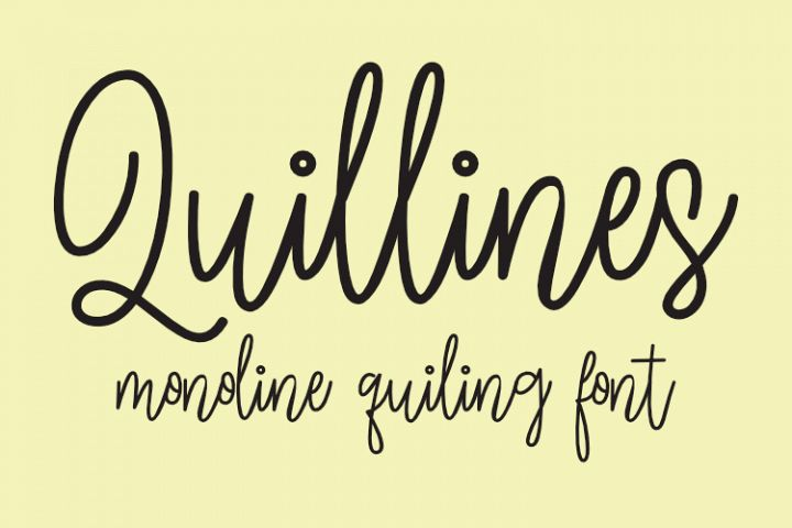 Quillines Single-line and hairline fonts