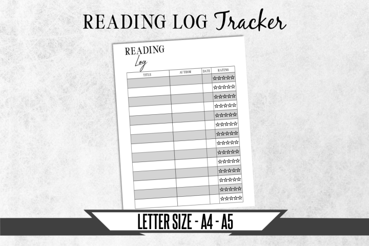 Reading Log Journal Printable Planner Page