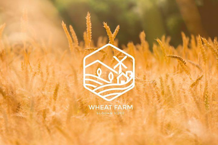 Agriculture - Wheat Farm Logo
