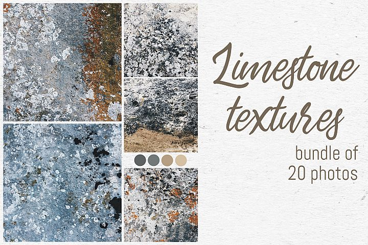 Limestone textures photo bundle