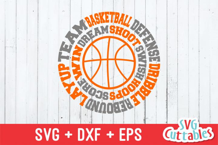 Basketball svg, Basketball round Subway Art svg cut file