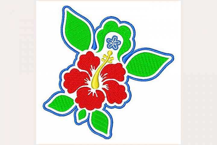 Tropical Hibiscus - Machine Embroidery Design