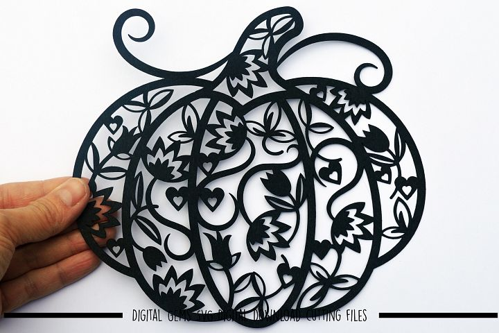Pumpkin Paper Cut SVG / DXF / EPS Files