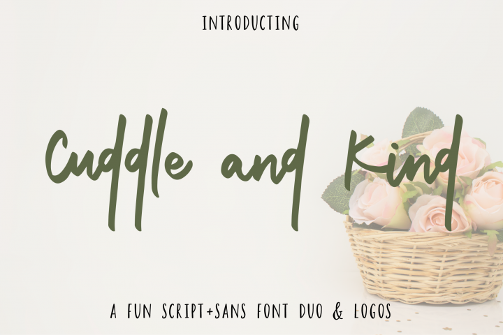 Cuddle and Kind Font Duo + Logos