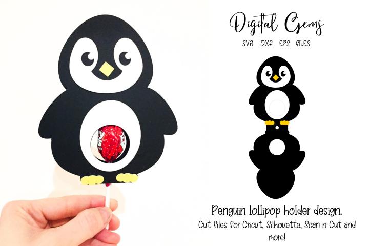 Penguin lollipop holder design SVG / DXF / EPS files