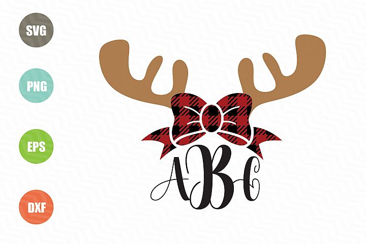 Christmas Reindeer SVG Monogram