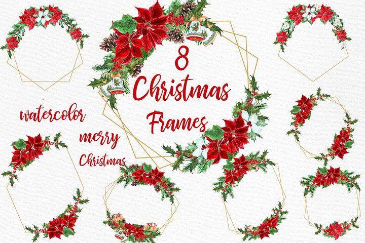 Geometric Christmas Frames clipart Gold Geometric Frames