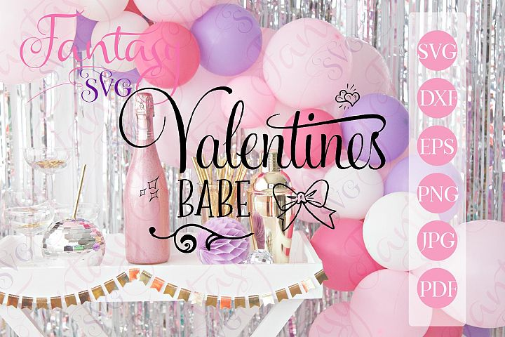 Valentines babe svg cut file for cut machines