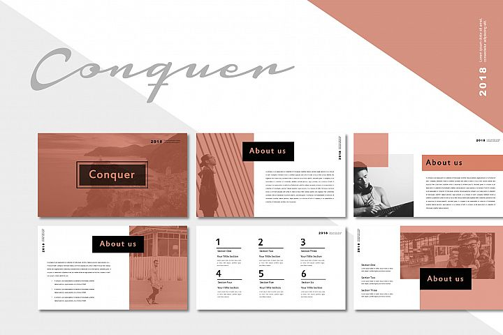 Conquer Keynote Templates