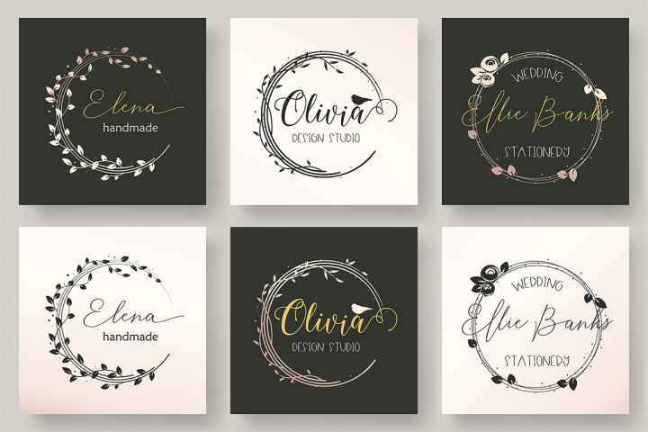 Set of 3 Feminine Logo Template