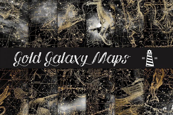 Gold Galaxy Maps