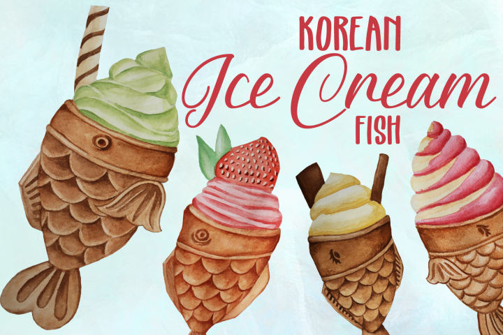 Korean Fish Ice Creams