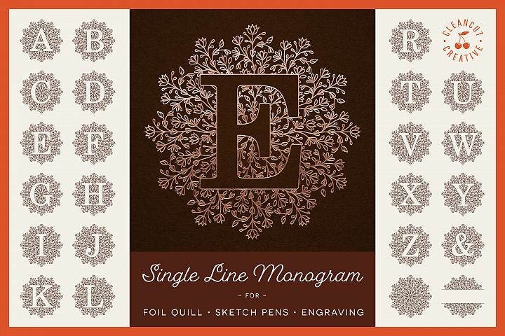 Foil Quill | Single Line | Sketch Mandala Monogram Alphabet