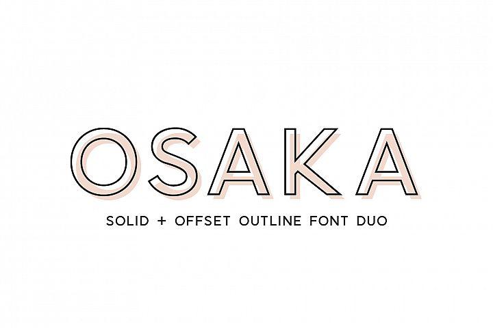 Osaka | Designer Font Duo