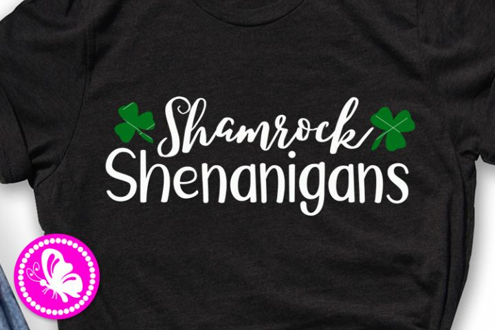 Shamrock shenanigans png St. Patricks day decor Shirt png