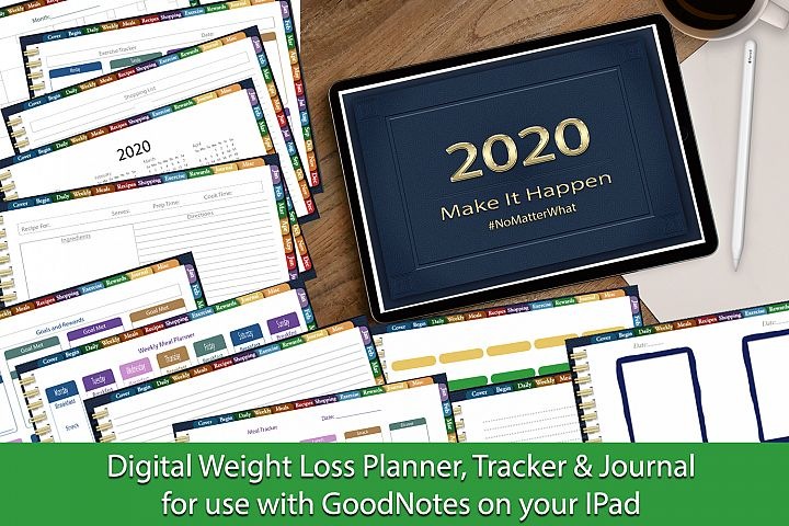 Digital Weight Loss Planner, Tracker & Journal For IPad