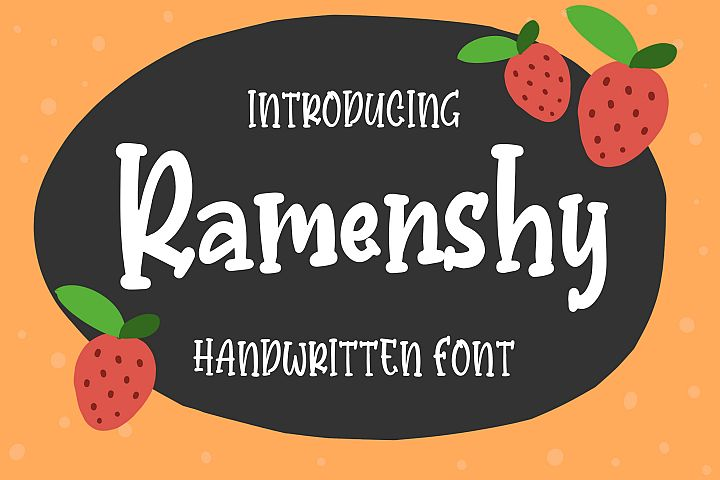 Ramenshy - Handwritten Font