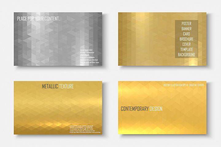 Colorful bright metallic templates