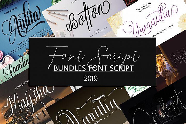 BUNDLES FONT SCRIPT 2019