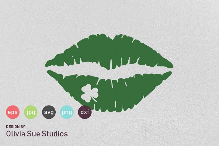 Shamrock Clover Kiss St Patricks Day SVG Cut File