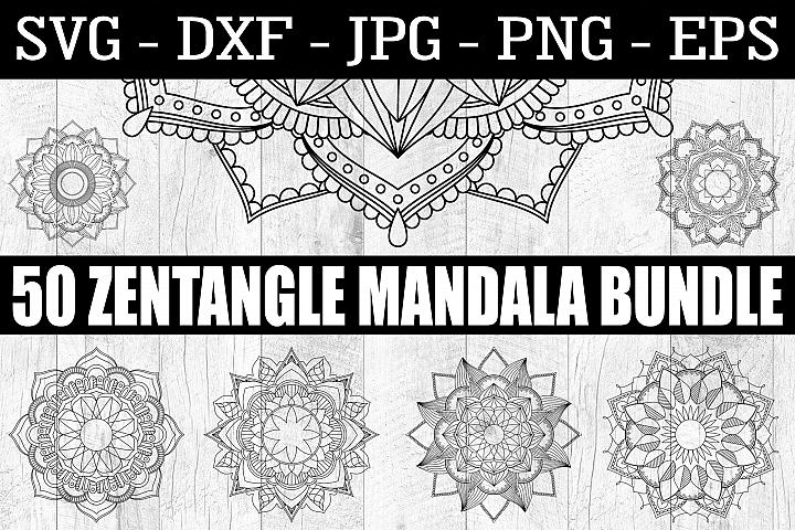 50 Zentangle Mandala SVG EPS PNG Zentangle Bundle Mandala