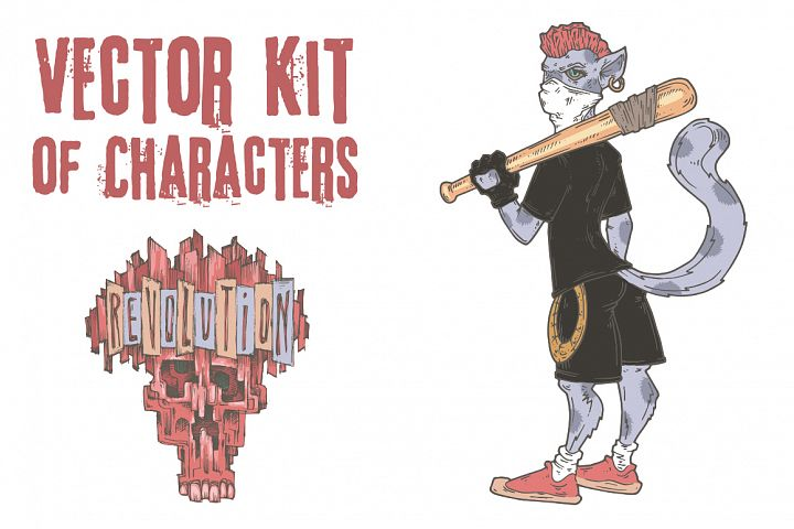 Vector Kit of Characters