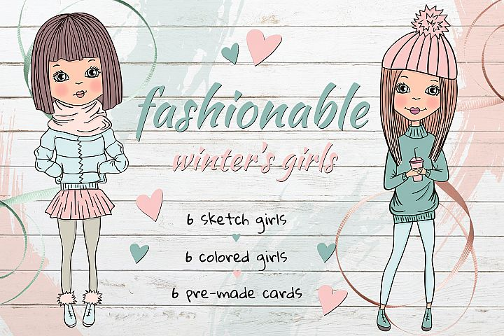 Fashionable winters girls