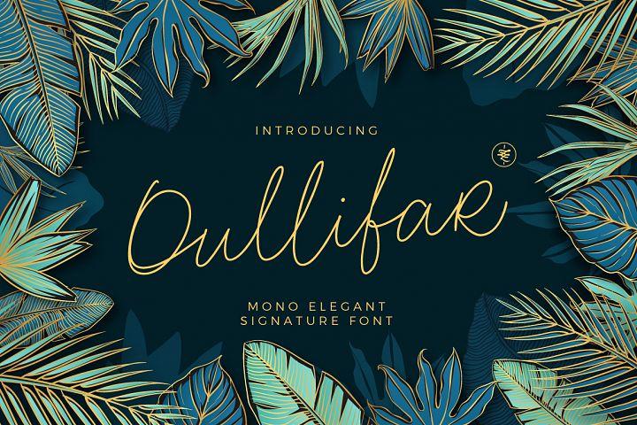 Oullifar Monoline Script