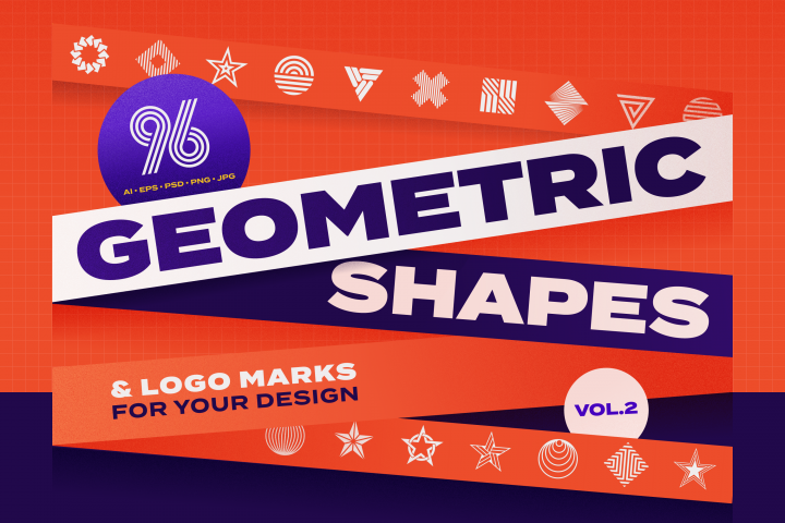 96 Geometric shapes & logo marks VOL.2