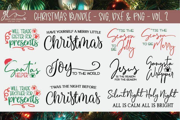 Christmas Bundle - SVG Cut File Bundle - Vol. 2 - 11 Designs