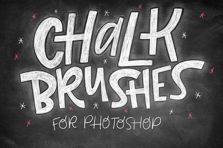 Realistic Photoshop Chalk Brushes!